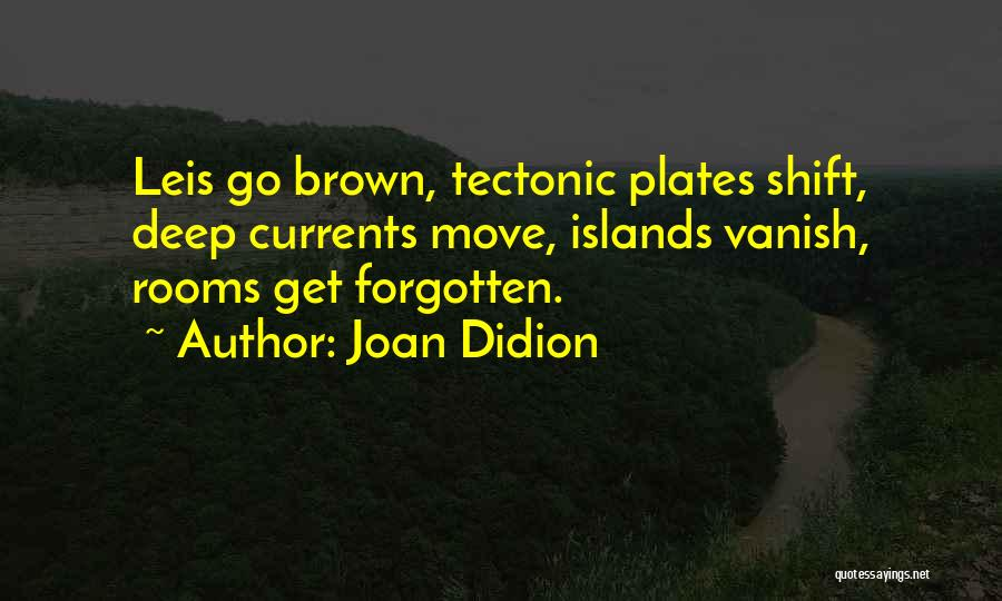 Tectonic Plates Quotes By Joan Didion