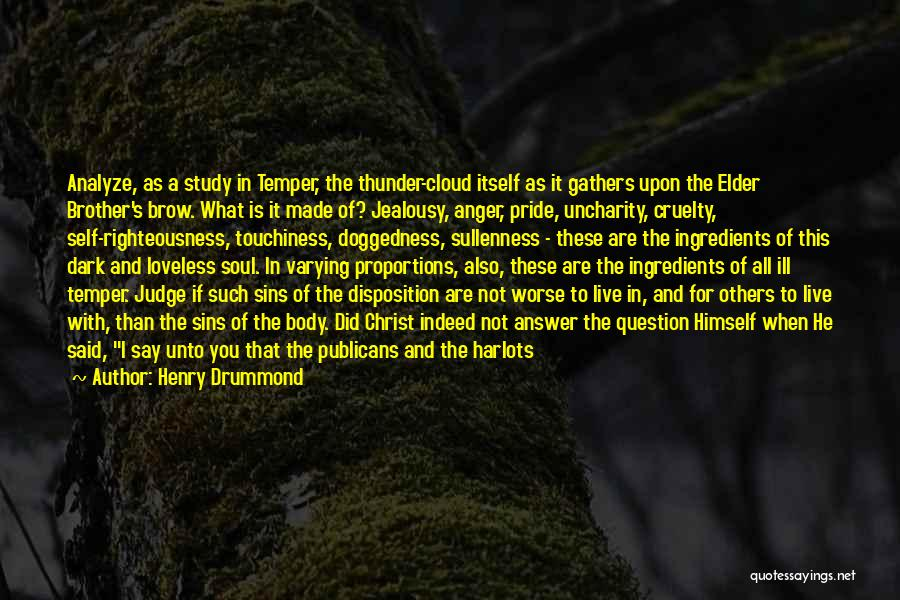 Temper And Anger Quotes By Henry Drummond