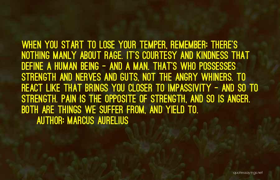Temper And Anger Quotes By Marcus Aurelius