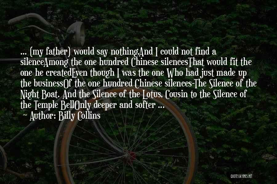 Temple Bell Quotes By Billy Collins