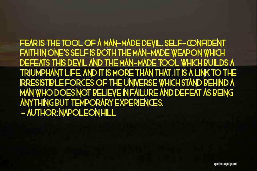 Temporary Defeat Quotes By Napoleon Hill