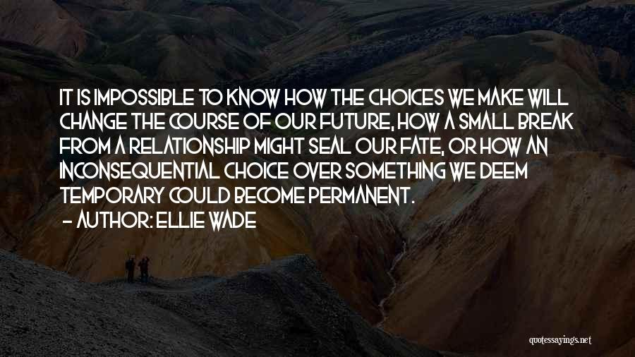 Temporary Relationship Quotes By Ellie Wade