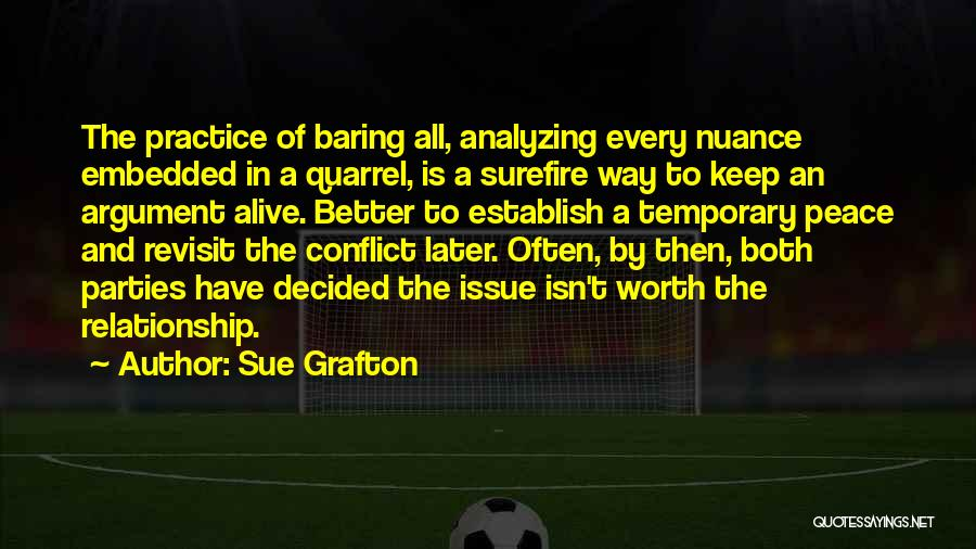 Temporary Relationship Quotes By Sue Grafton