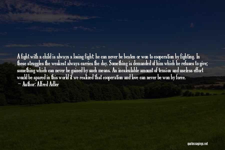 Tension In Love Quotes By Alfred Adler