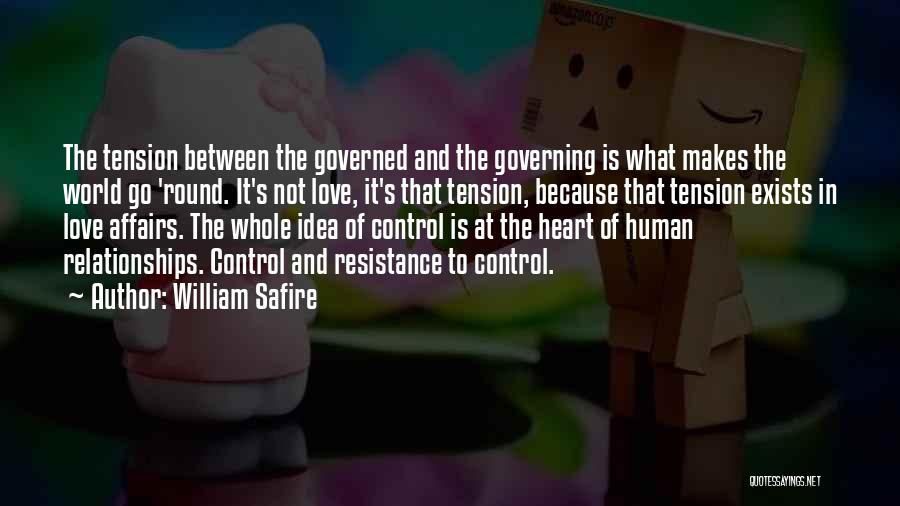 Tension In Love Quotes By William Safire