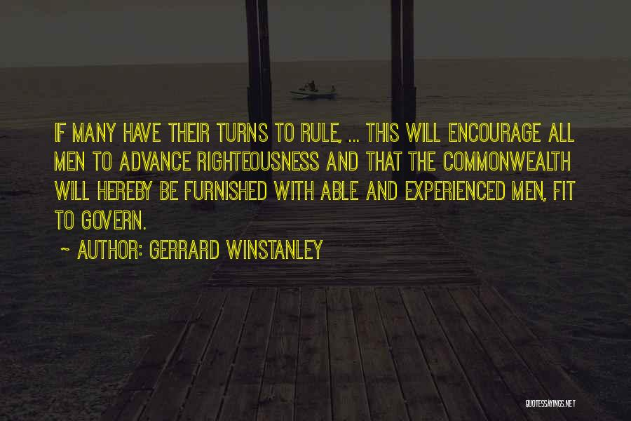 Term Limits Quotes By Gerrard Winstanley