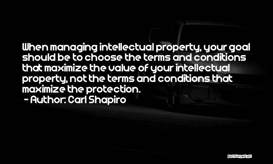 Terms And Conditions Quotes By Carl Shapiro