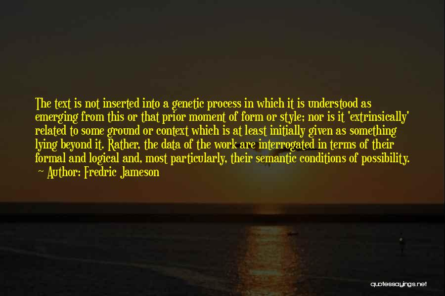 Terms And Conditions Quotes By Fredric Jameson