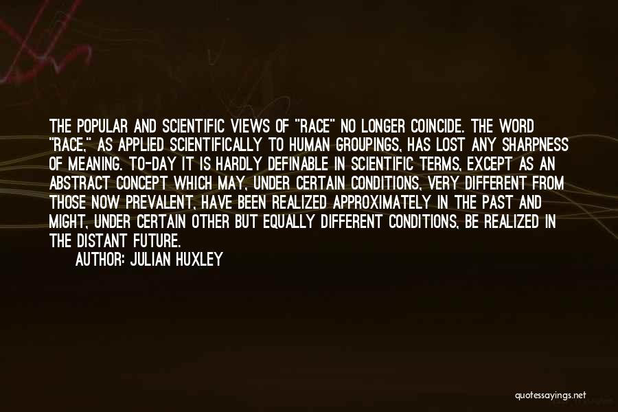 Terms And Conditions Quotes By Julian Huxley