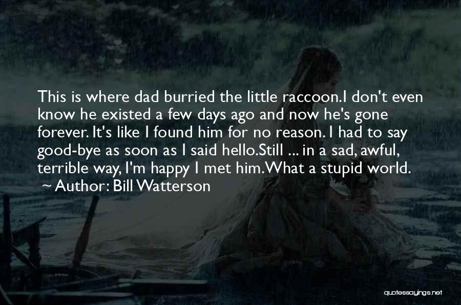 Terrible Dad Quotes By Bill Watterson