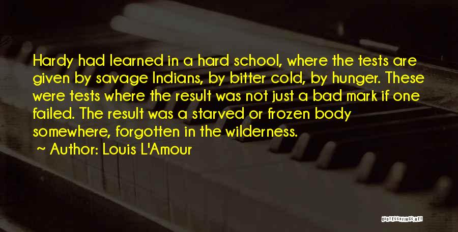 Tests In School Quotes By Louis L'Amour