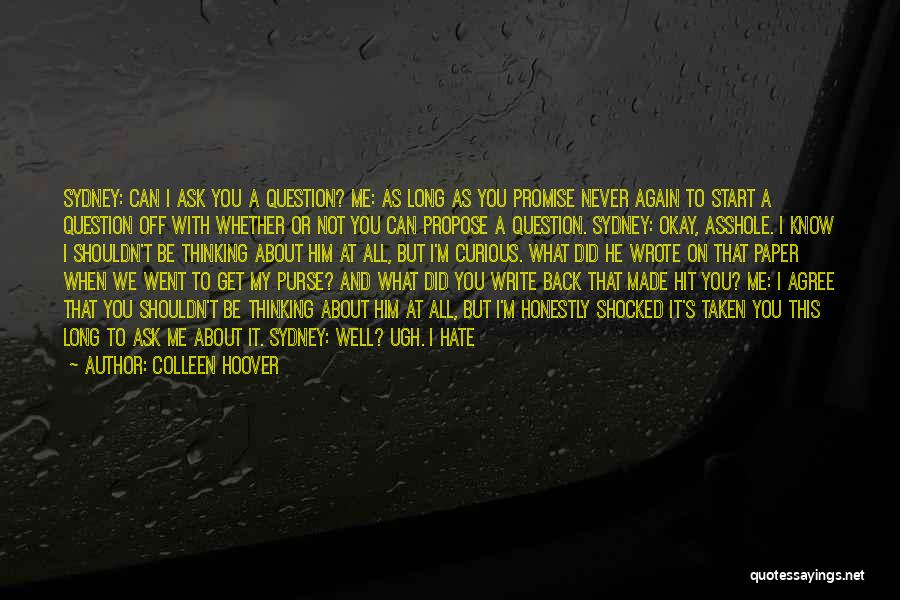 Text Me Quotes By Colleen Hoover