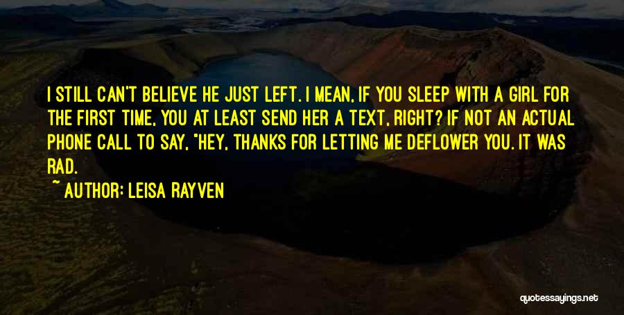 Text Me Quotes By Leisa Rayven