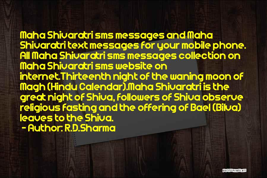 Text Sms Quotes By R.D.Sharma