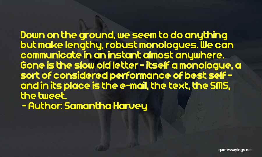 Text Sms Quotes By Samantha Harvey
