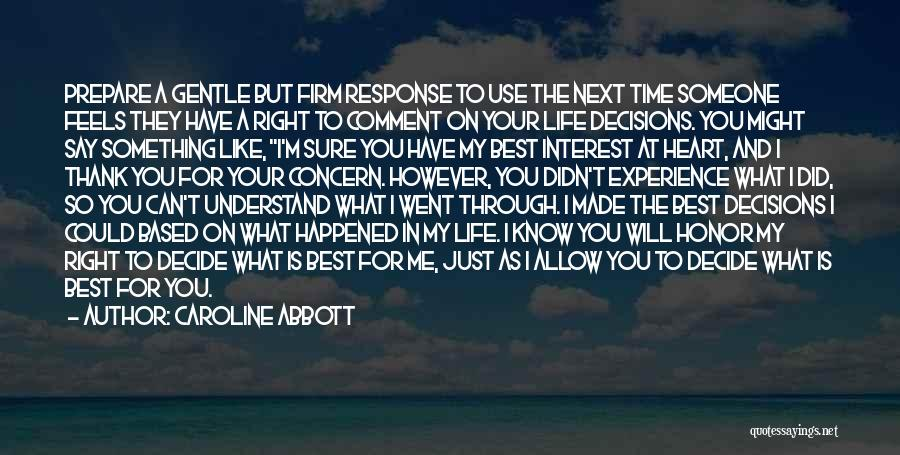 Thank You Experience Quotes By Caroline Abbott