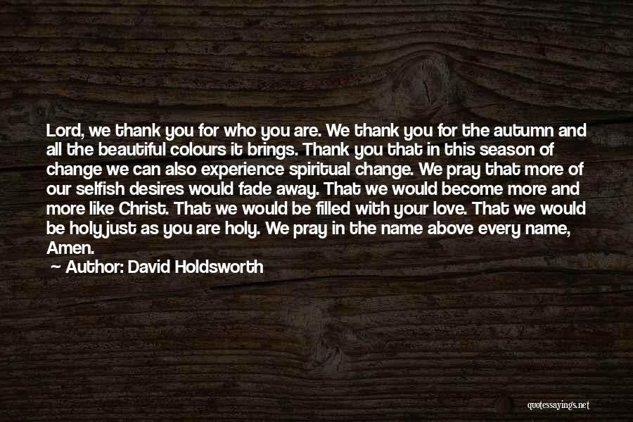 Thank You Experience Quotes By David Holdsworth