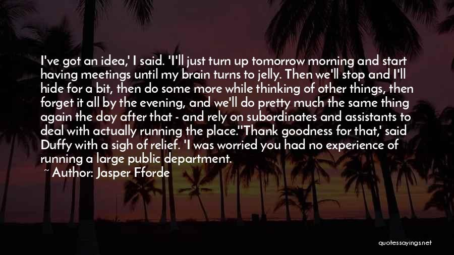 Thank You Experience Quotes By Jasper Fforde
