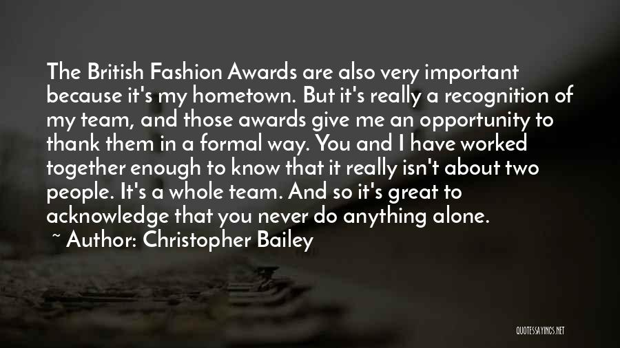 Thank You Formal Quotes By Christopher Bailey