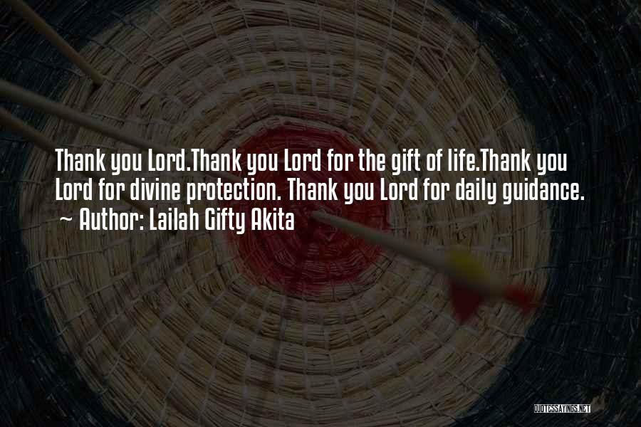 Thank You Guidance Quotes By Lailah Gifty Akita