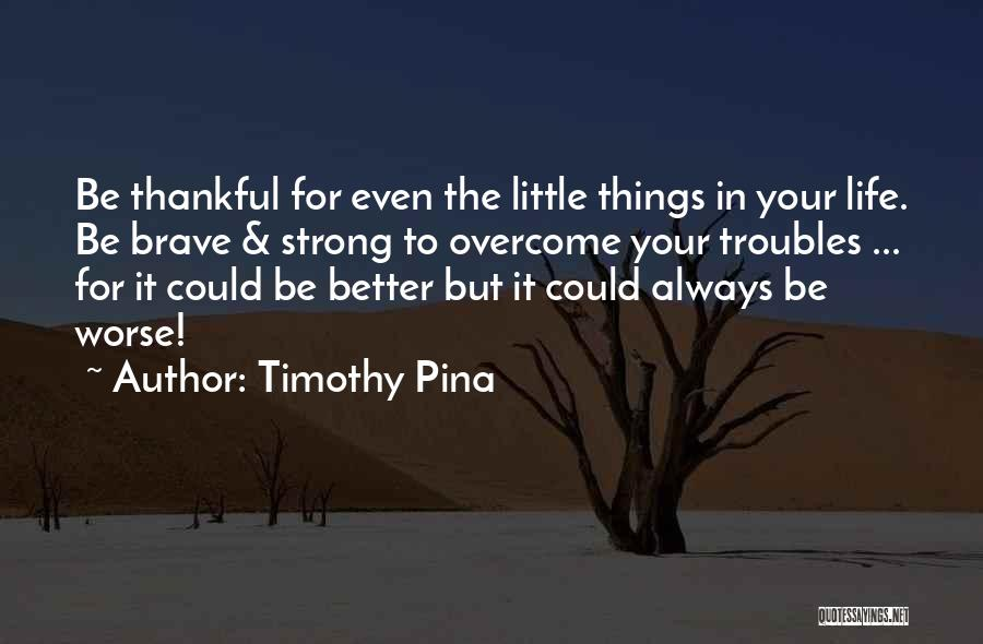 Thankful In Life Quotes By Timothy Pina