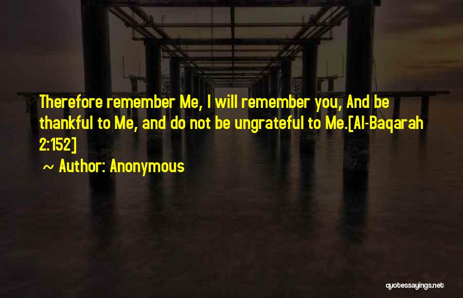Thankful Quotes By Anonymous