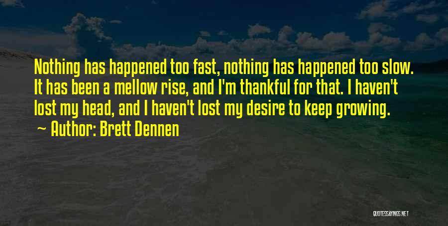 Thankful Quotes By Brett Dennen