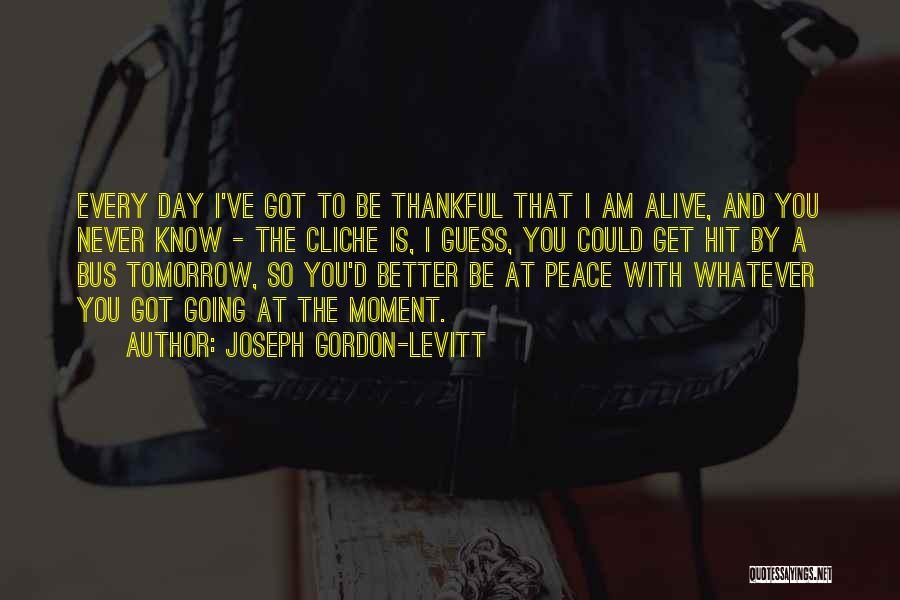 Thankful Quotes By Joseph Gordon-Levitt