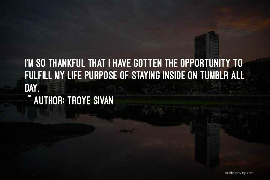 Thankful Quotes By Troye Sivan