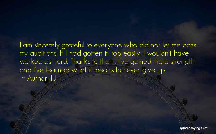 Thanks For Everyone Quotes By IU