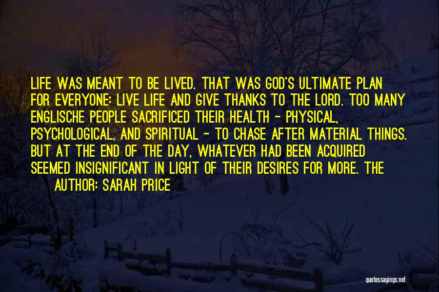 Thanks For Everyone Quotes By Sarah Price