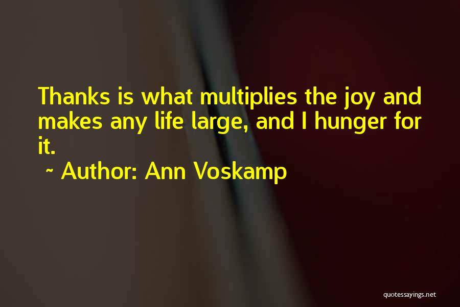 Thanks Quotes By Ann Voskamp