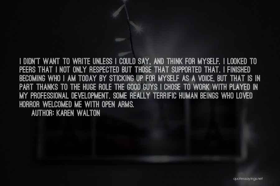 Thanks Quotes By Karen Walton