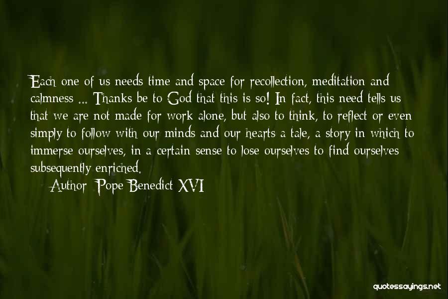 Thanks Quotes By Pope Benedict XVI