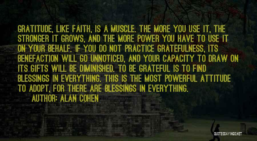 Thanksgiving And Gratitude Quotes By Alan Cohen
