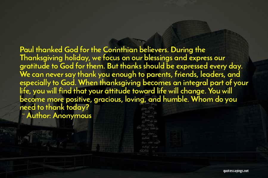 Thanksgiving And Gratitude Quotes By Anonymous