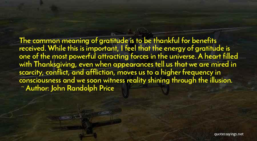 Thanksgiving And Gratitude Quotes By John Randolph Price