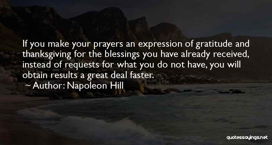 Thanksgiving And Gratitude Quotes By Napoleon Hill