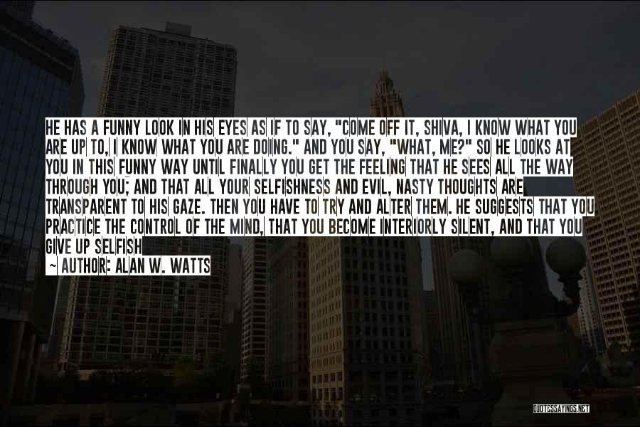 That Funny Feeling Quotes By Alan W. Watts