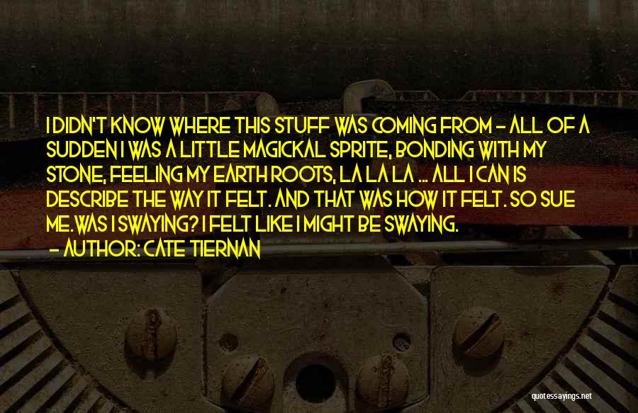 That Funny Feeling Quotes By Cate Tiernan