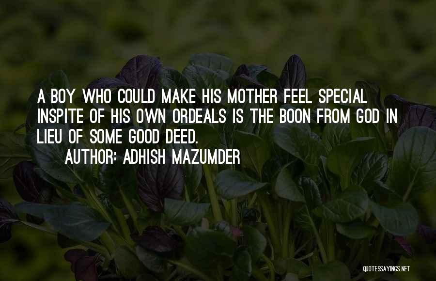 That One Special Boy Quotes By Adhish Mazumder