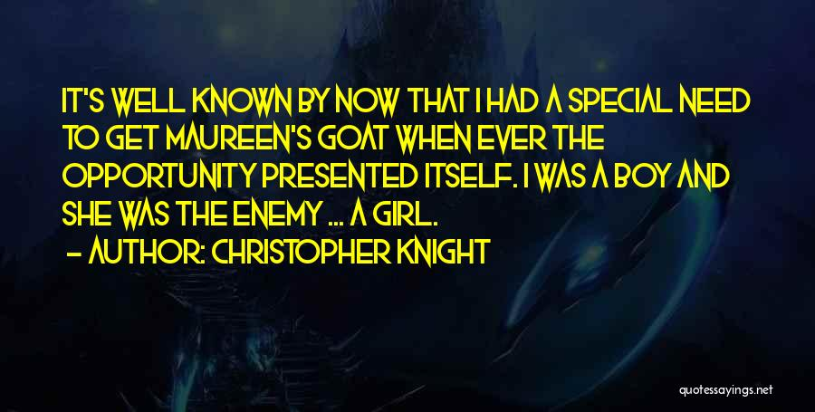 That One Special Boy Quotes By Christopher Knight
