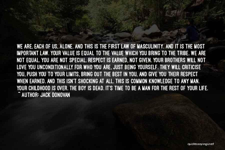 That One Special Boy Quotes By Jack Donovan