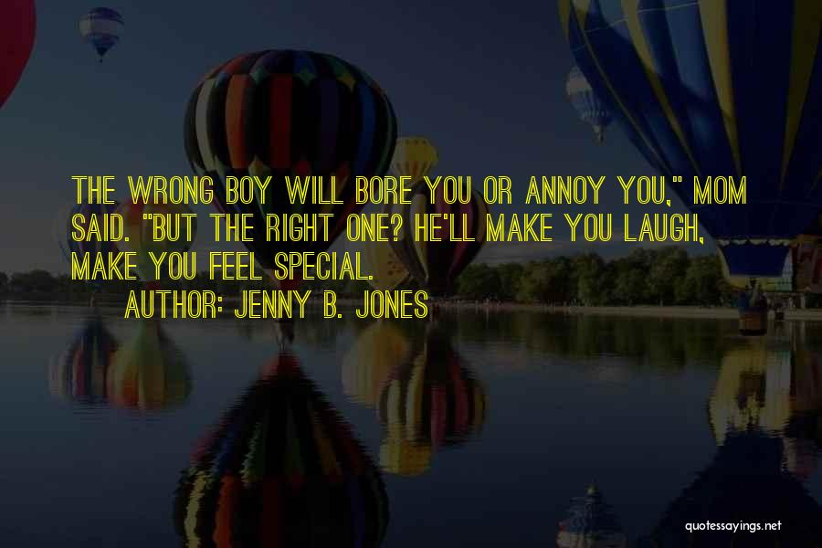 That One Special Boy Quotes By Jenny B. Jones