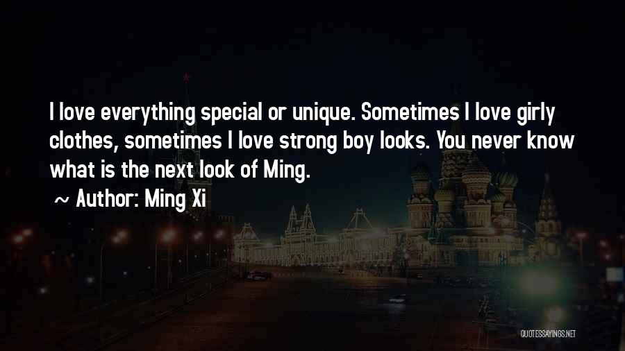 That One Special Boy Quotes By Ming Xi
