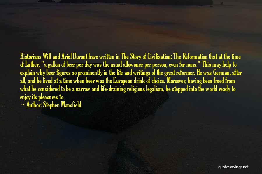 That Was A Great Day Quotes By Stephen Mansfield