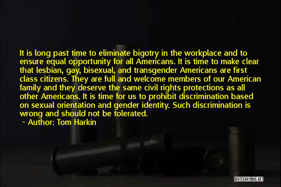 The American Identity Quotes By Tom Harkin