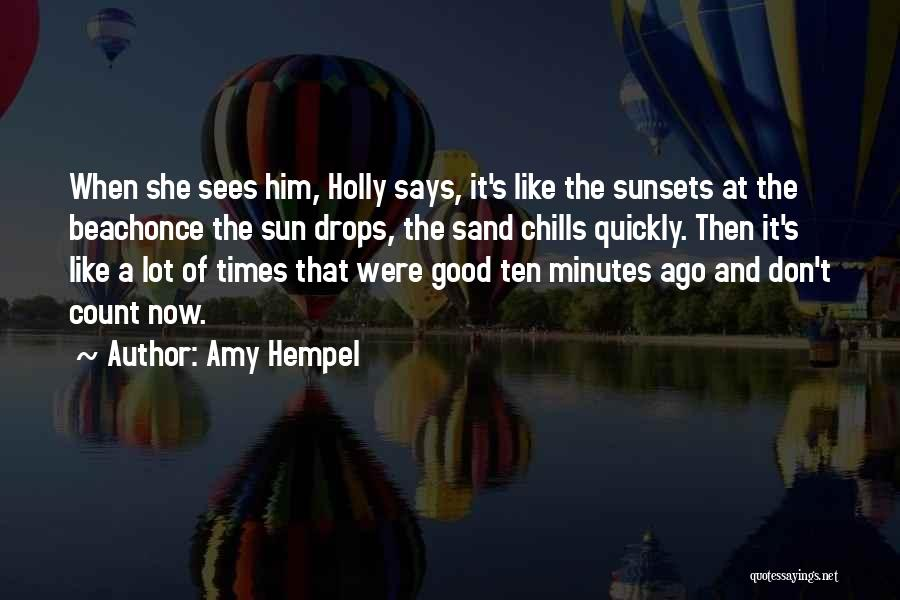 The Beach And Sand Quotes By Amy Hempel