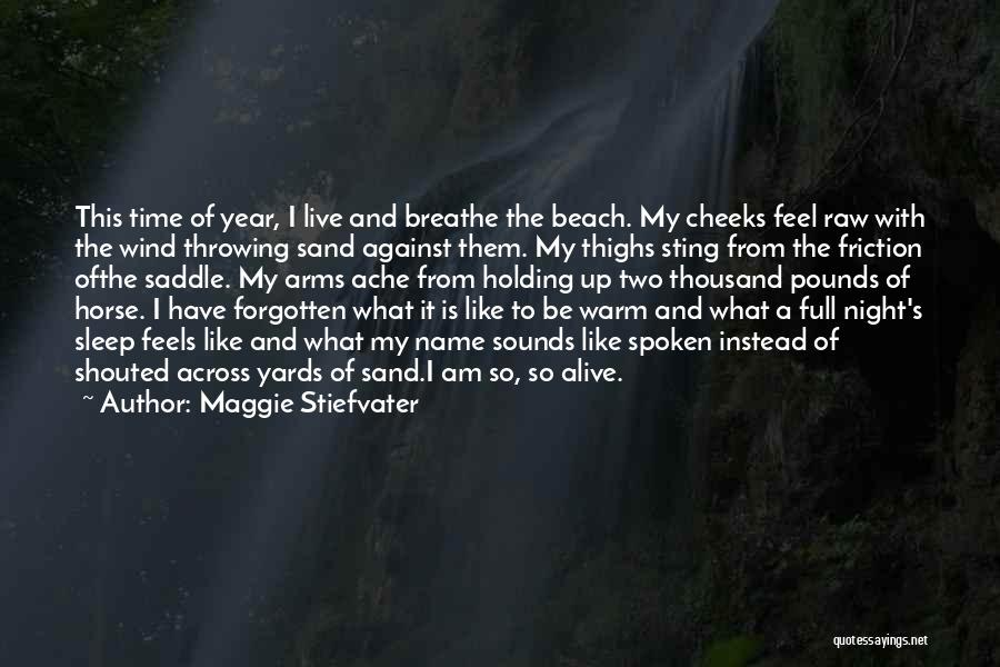 The Beach And Sand Quotes By Maggie Stiefvater
