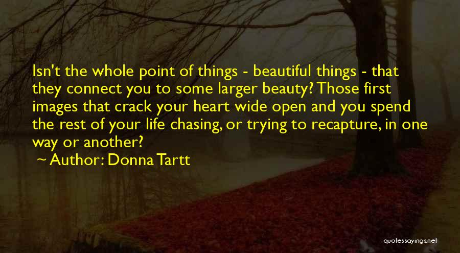 The Beautiful Things In Life Quotes By Donna Tartt